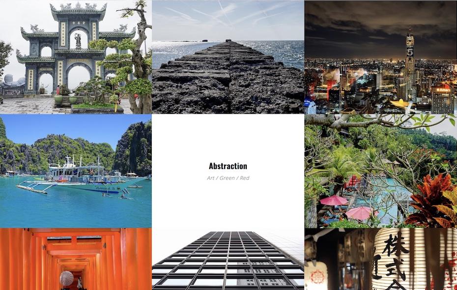 Preview of Minimalistic Gallery Grid - Kenzap Gallery plugin